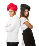 Chef team problems. Person emotions and expressions portrait royalty free stock image