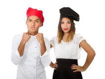 Chef team ready for war. Person emotions and expressions portrait stock images