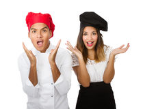 Chef team unbelieving faces Stock Photography