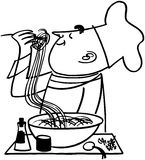 Chef Testing Noodles Royalty Free Stock Image