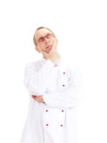 Chef thinking about recipe Royalty Free Stock Photography