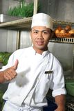 Chef thumb up Stock Photo