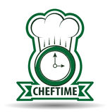 Chef-Time Cook Vector-Illustration Lizenzfreie Stockbilder