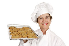 Chef & Toll House Cookies Royalty Free Stock Photos