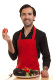 Chef tomatoe Stock Photography