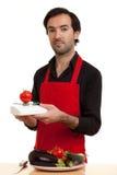Chef tomatoe Skala Stockbild