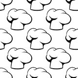 Chef toque outline seamless pattern Royalty Free Stock Photos
