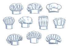 Chef toques, caps and hats icons Royalty Free Stock Photography