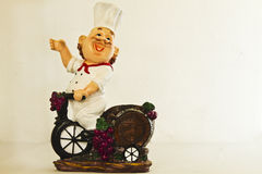 Chef Toy Decor in a Bike Royalty Free Stock Photography