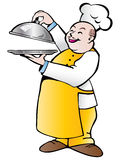 Chef with tray Royalty Free Stock Images