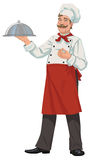 Chef tray closed. Chef would like to serve you his favorite dish Stock Photography
