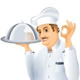 Chef tray dish Royalty Free Stock Image