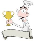 Chef with trophy Royalty Free Stock Photography