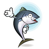 Chef tuna mascot Suggests the direction. Scombridae Character De Stock Images