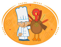 Chef and Turkey Royalty Free Stock Image