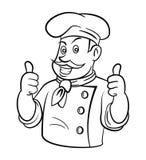 Chef Two Thumb oben Stockfotografie