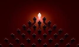 Chef u. x28; Symbolfiguren von people& x29; Wiedergabe der Illustration 3D Stockfotos