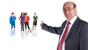 Chef und Arbeitskräfte Lizenzfreie Stockbilder
