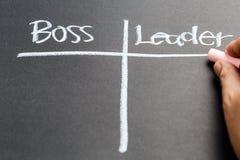Chef und Führer lizenzfreie stockfotos