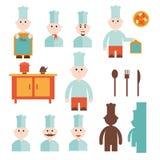 Chef- und Kücheneinzelteile Stockfotografie