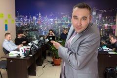 Chef und Personal von Angestellten Stockfoto