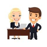 Chef und Sekretär Planning Business Day Lizenzfreie Stockfotografie