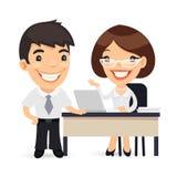 Chef und Sekretär Planning Business Day Lizenzfreie Stockbilder