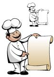 Chef in uniform with menu Royalty Free Stock Photo