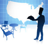 Chef with United States map Stock Image