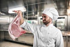 Chef végétarien dégoûté Photos stock