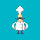 Chef in various poses Stock Images