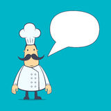 Chef in various poses Royalty Free Stock Image