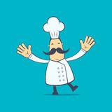 Chef in various poses Stock Image