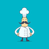 Chef in various poses Royalty Free Stock Images