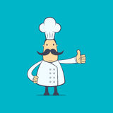 Chef in various poses Stock Photography