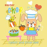 Chef. Vector illustration for children clothes for wallpaper Royalty Free Stock Photography