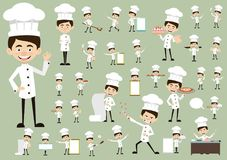Chef Vector Illustration Design - Bäckereilogoschablone lizenzfreie stockfotos