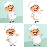 The Chef. Vector illustration of a happy chef stock illustration