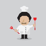 Chef Vector Illustration Stock Images