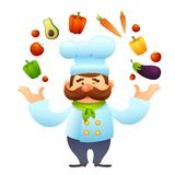 Chef With Vegetables Royalty Free Stock Images