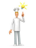 Chef visited idea Stock Photography