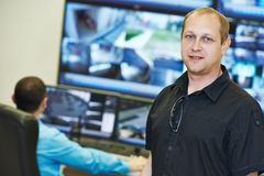 Chef visuel de surveillance de sécurité photos libres de droits