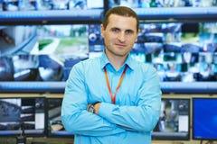 Chef visuel de surveillance de sécurité photographie stock libre de droits