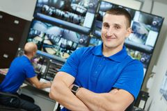 Chef visuel de surveillance de sécurité Photo libre de droits