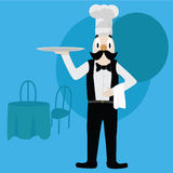 Chef/waiter Royalty Free Stock Images