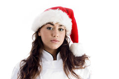 Chef wearing christmas hat Stock Photography