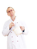 Chef with whisk and bowl Stock Photography