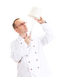 Chef with whisk and bowl Stock Images