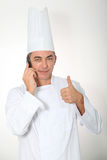 Chef on white background royalty free stock photography
