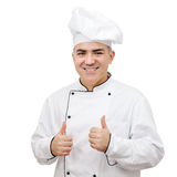 Chef on white background Royalty Free Stock Photos